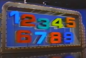 The Big Numbers board in the 1987 revival, in all its glorious 80s-ness.